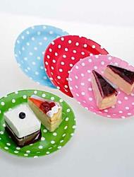 9 pollici piatti di carta per la festa con i puntini bianchi (set di 12, più colori)