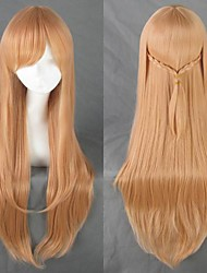 Cosplay Wigs Cosplay Cosplay Brown Long Anime Cosplay Wigs 80 CM Heat Resistant Fiber Female