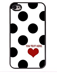 Personalized Case Elegant Dots Design Metal Case for iPhone 4/4S