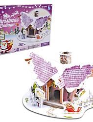 le cadeau de Noël maison intelligente chalet ange puzzles 3D (20pcs)