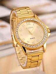 orologio roma strass calibrazione cintura in acciaio moda femminile
