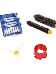 Aero Vac Filter & Bristle Brush & Flexible Beater Brush & Side Brush & Cleaning tool Pack for iRobot Roomba 600 Series
