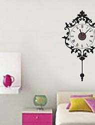 zooyoo® gran cronometrador batería electrónica reloj de pared decoración etiqueta engomada casera péndulo para usted salón