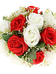 casal cores puras e ardor de poliéster casamento buquê de noiva