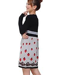 vestido de maternidad de impresión de fresa encantadora de ocio de moda de maternidad