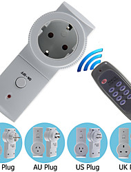 Wireless UK/AU/EU/US Plug Remote Control Socket Switch AC Power Outlet Mains Socket with Remote Controller
