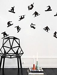Wall Stickers Wall Decals, Skater Boy Skiing PVC Wall Stickers