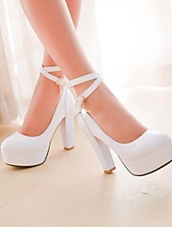 Women's Shoes Platform Round Toe Chunky Heel Pumps with Buckle Shoes More Colors available