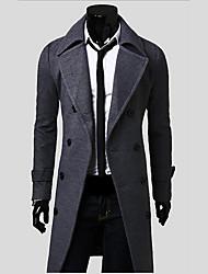 manga longa casacos de tweed lapela pescoço dos homens Kaidi