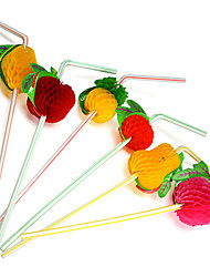 Apple Berry Fruit Plactis Party Straws (20/Package Random)