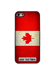 Personalized Case Canadian Flag Design Metal Case for iPhone 5/5S