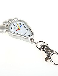 moda unissex analógico liga relógio de bolso de quartzo chaveiro