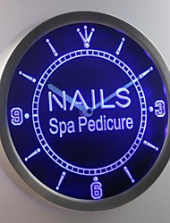 nc0314 Nail Spa Pedicure Beauty Salon Neon Sign LED Wall Clock