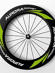 AURORA  700c Road Bike,Bicycle 88mm Depth 20.5mm Width Full Carbon Tubular Wheels,  R36 Hubs and Sapim CX-Ray Spokes