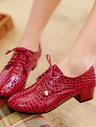 damesschoenen ronde neus hak van Oxford schoenen meer kleuren beschikbaar