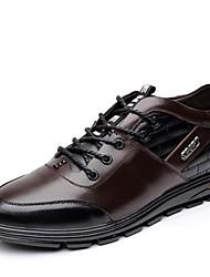 Zapatos de Hombre Oficina y Trabajo/Casual Cuero Oxfords Negro/Marrón