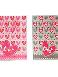 lureme loveing bolsa de patrón de corazón de regalo (gris, rosa) (1 unidad)