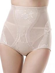 poliéster / lycra de alta costura de la cintura de las bragas de conformación sexy