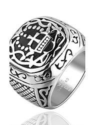 Cross Grain Super Cool Personality Man Titanium Steel Ring Christmas Gifts