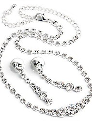 Jewelry-Necklaces / Earrings(Rhinestone / Silver Plated)Wedding / Party Wedding Gifts