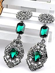 литые старинные серьги с бриллиантами manluo женские