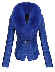 Women's V Neck Fashion Slim Down Cotton Padded Short Coat