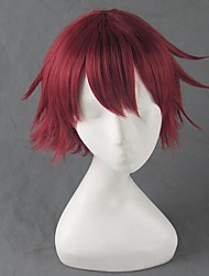 Cosplay Wigs The Irregular at Magic High School Cosplay Red / Green Short Anime Cosplay Wigs 35 CM Heat Resistant Fiber Female