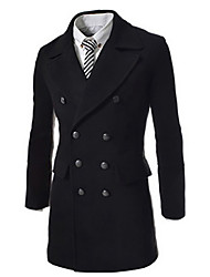 George Men's Foreign Trade Wholesale Slim Lapel Double-breasted Windcoat