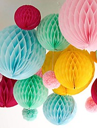 10 Inch Honeycomb Tissue Paper Flower Ball (More Colors)