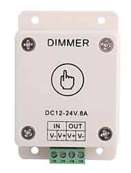8A 1-Channel Touch Panel Dimmer Controller for LED Strip Lamp  (DC 12V-24V)