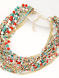 Necklace Strands Necklaces Jewelry Daily / Casual Fashion Alloy Silver 1pc Gift