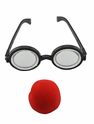 Cute Clown Nose + Glasses Set Practical Joke Gadgets