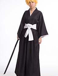 Bleach Ichigo Kurosaki Black Kimono Cosplay Costume
