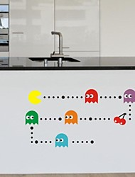 Wall Stickers Wall Decals, Pacman PVC Wall Stickers