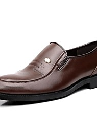 Men's Shoes Comfort Round Toe Flat Heel Leather Loafers Shoes More Colors avaliable