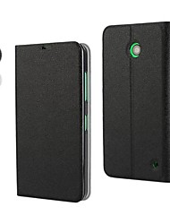Для Кейс для Nokia со стендом / Флип Кейс для Чехол Кейс для Один цвет Твердый Искусственная кожа Nokia Nokia Lumia 630