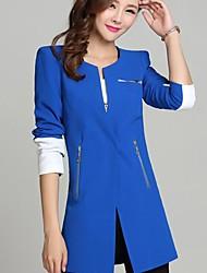moda traje delgado prendas de vestir exteriores de la chaqueta de las mujeres