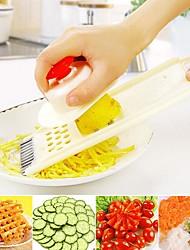 multifuncional vegetal frutas cortador slicer 1 set 24.5x9x2cm plástico