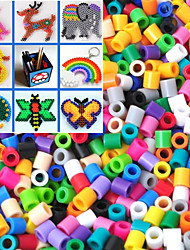 Approx 1000PCS 5MM Mixed Random Color Perler Beads Fuse Beads Hama Beads DIY Jigsaw EVA Material Safty for Kids