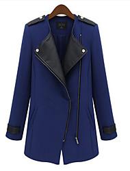 Lavender Women's Long Woolen Coat