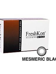FreshKon Allurig Eyes Mesmeric Black (2 Lens /box)(Zero Degree)