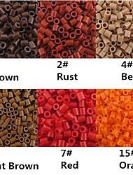 Approx 500PCS/Bag 5MM Perler Beads Fuse Beads Hama Beads EVA Material Safty for Kids (Assorted B1-B15)