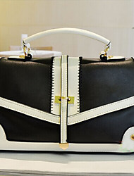 BLKL Contrast Color Single Shoulder Handbag (Black)