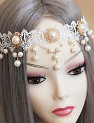 noiva moda branco pérola rendas cabeça para as mulheres (1pcs)