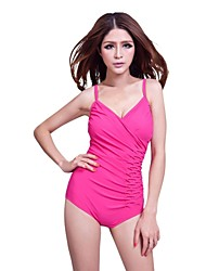 Women's Halter One-pieces , Solid Push-up/Strapped/Padded Bras/Underwire Bra Nylon/Spandex Pink/Green/Black