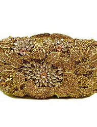 Women's Foral Design Diamond Evening Clutch Box