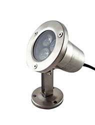 3w 3 lysdioder IP68 vattentät utomhus vita LED undervattensbelysning (12V)