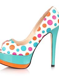 zapatos de mujer peep toe bombas de plataforma de tacón de aguja zapatos