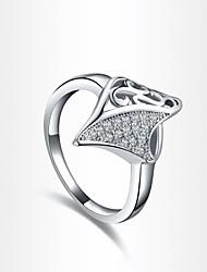 forma de torre de moda de prata das mulheres banhado anéis de instrução (1 pc)
