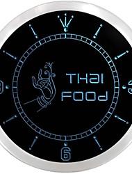 alimentaire thailande restaurant café néon LED SIGN horloge murale